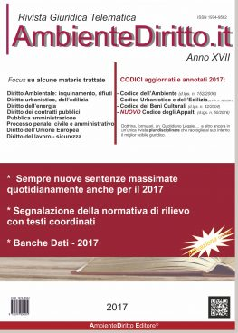 AMBIENTEDIRITTO.it Come abbonarsi alla Rivista Giuridica On Line.